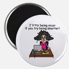 "Intelligence Sarcasm 2.25"" Magnet (100 pack)"