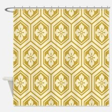 Honeycomb Flowers Shower Curtain