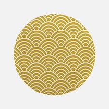 """Oriental Design 3.5"""" Button"""