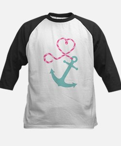 Cute Anchor and Heart Rope Baseball Jersey