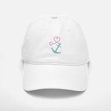 Cute Anchor and Heart Rope Baseball Baseball Baseball Cap
