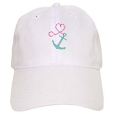 Cute Anchor and Heart Rope Baseball Baseball Cap