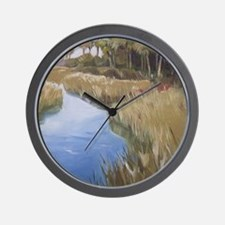 Florida Marshland wilderness wetlands Wall Clock