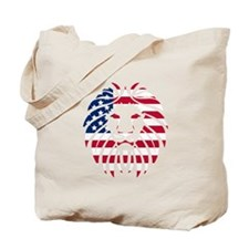 American Flag Lion Tote Bag