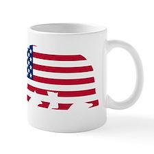American Flag California Bear Mugs