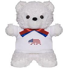 American Flag California Bear Teddy Bear
