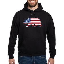 American Flag California Bear Hoodie