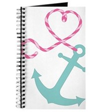 Cute Anchor and Heart Rope Journal