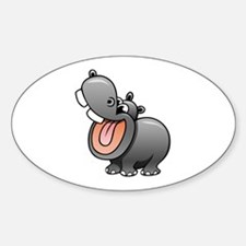 Cartoon Hippopotamus Decal