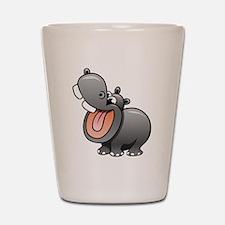 Cartoon Hippopotamus Shot Glass