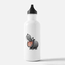 Cartoon Hippopotamus Water Bottle