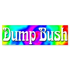 Groovy Dump Bush Bumper Sticker