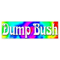 Groovy Dump Bush Bumper Bumper Sticker