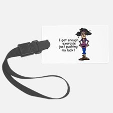 Exercise Humor Luggage Tag