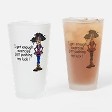 Exercise Humor Drinking Glass