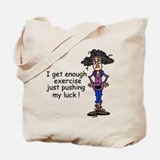 Exercise Humor Tote Bag