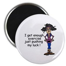 "Exercise Humor 2.25"" Magnet (10 pack)"
