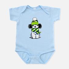 Parti Poodle Scarf Infant Bodysuit