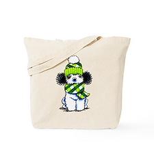 Parti Poodle Scarf Tote Bag