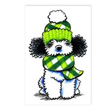 Parti Poodle Scarf Postcards (Package of 8)