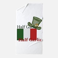 halfgaelichalfgarlichatandflag Beach Towel