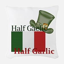 halfgaelichalfgarlichatandflag Woven Throw Pillow