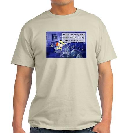 Nap Comic Strip Ash Grey T-Shirt