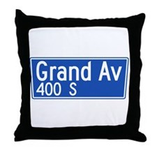 Grand Ave., Los Angeles - USA Throw Pillow