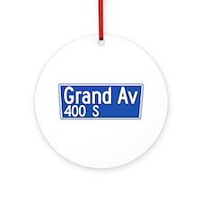 Grand Ave., Los Angeles - USA Ornament (Round)