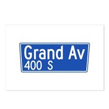 Grand Ave., Los Angeles - USA Postcards (Package