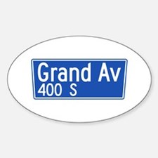 Grand Ave., Los Angeles - USA Oval Decal