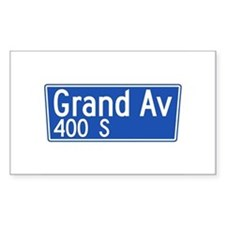Grand Ave., Los Angeles - USA Sticker (Rectangula