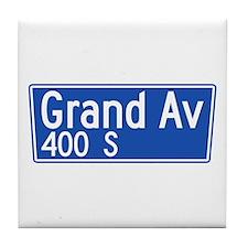 Grand Ave., Los Angeles - USA Tile Coaster