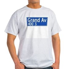 Grand Ave., Los Angeles - USA Ash Grey T-Shirt