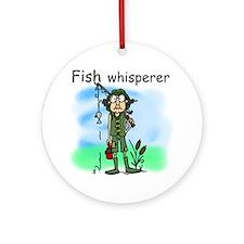Fish Whisperer Ornament (Round)