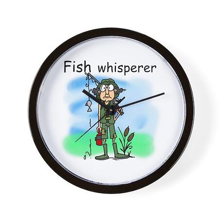 Fish whisperer wall clock by peacockcards for Fish wall clock