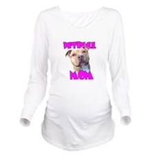 Pitbull Mom Long Sleeve Maternity T-Shirt