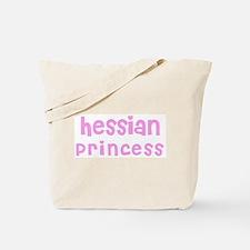 Hessian Princess Tote Bag