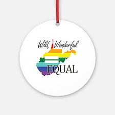 West Virginia wild wonderful equal blk font Orname