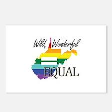 West Virginia wild wonderful equal blk font Postca
