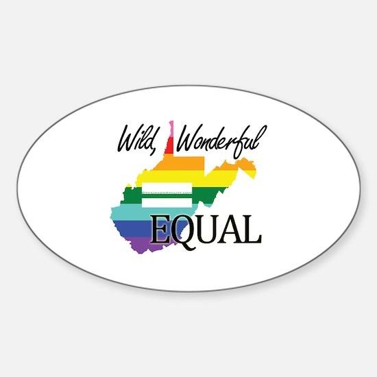 West Virginia wild wonderful equal blk font Sticke