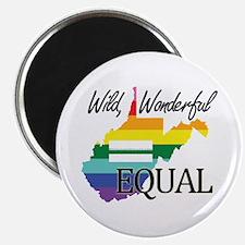 West Virginia wild wonderful equal blk font Magnet