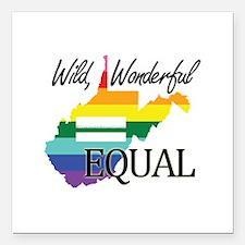 West Virginia wild wonderful equal blk font Square