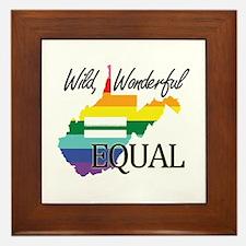 West Virginia wild wonderful equal blk font Framed