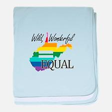West Virginia wild wonderful equal blk font baby b