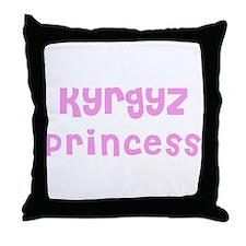 Kyrgyz Princess Throw Pillow