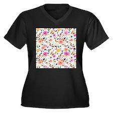 Colorful Flowers Plus Size T-Shirt