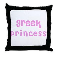 Greek Princess Throw Pillow