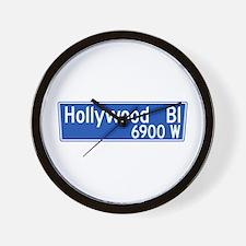 Hollywood Blvd., Los Angeles - USA Wall Clock