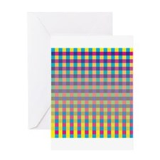 Colorful Squares Greeting Cards